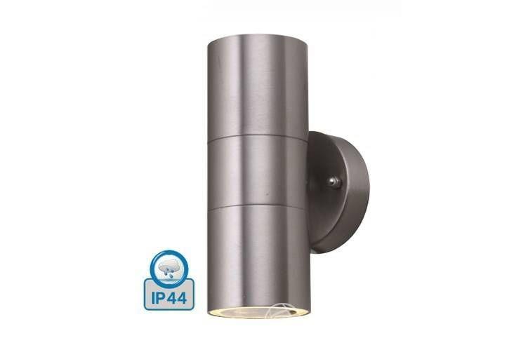 Gartenlampen; ip44; Mattchrom; 160 mm x 93 mm