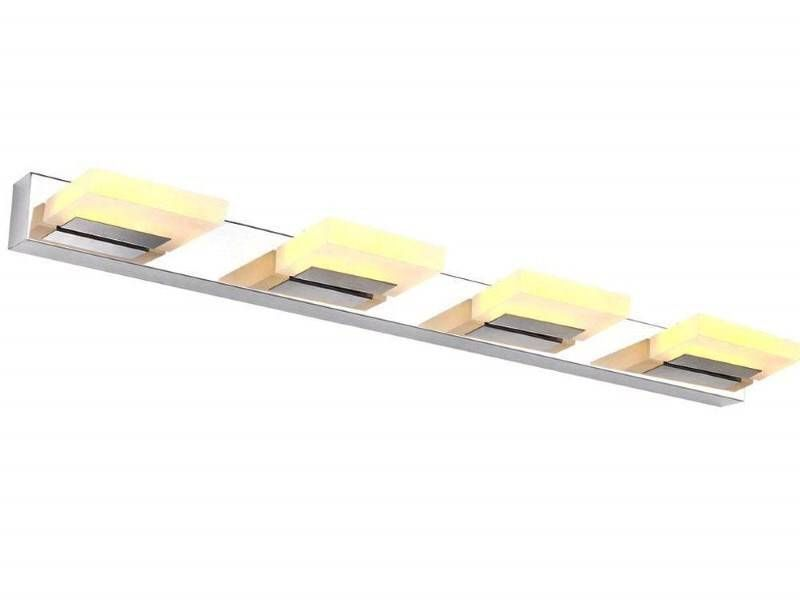 12W LED Chrom Wand-, Spiegel- und Bildlampe; Warmweiß