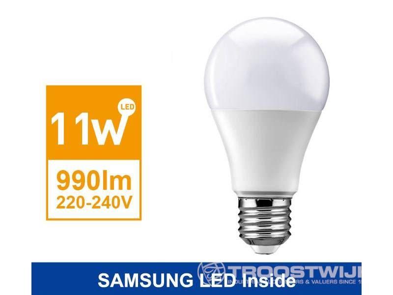 11W SAMSUNG LED E27 Birnen; Warmweiß