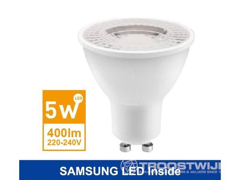 5W SAMSUNG LED GU10 LED Spot; Warmweiß