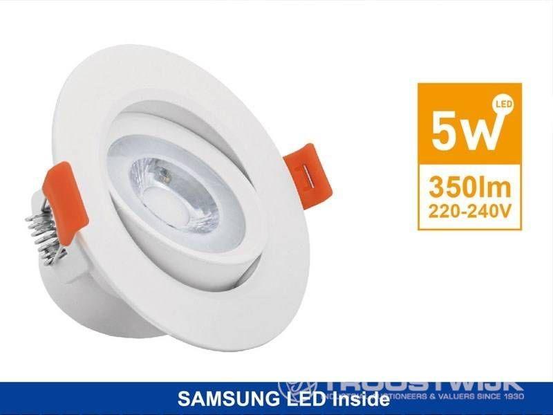 5W SAMSUNG LED-Einbaupaneele; Weiße runde; Warmweiß