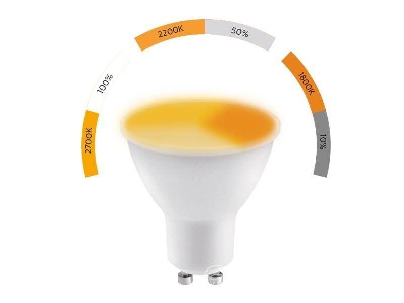 5W GU10 LED Spot; 3-stufiges Dimmen mit ON / OFF; Warmweiß