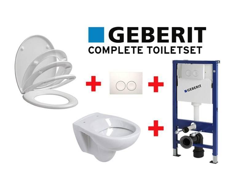 Geberit Komplettes WC-Set mit weich schließendem WC-Sitz
