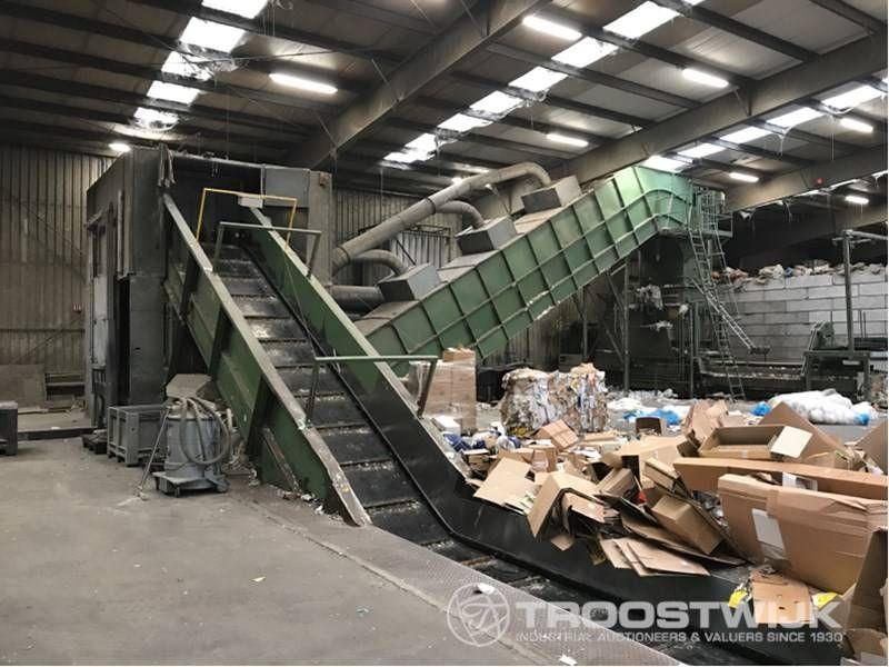 Recycling-Schredderpresse Linie