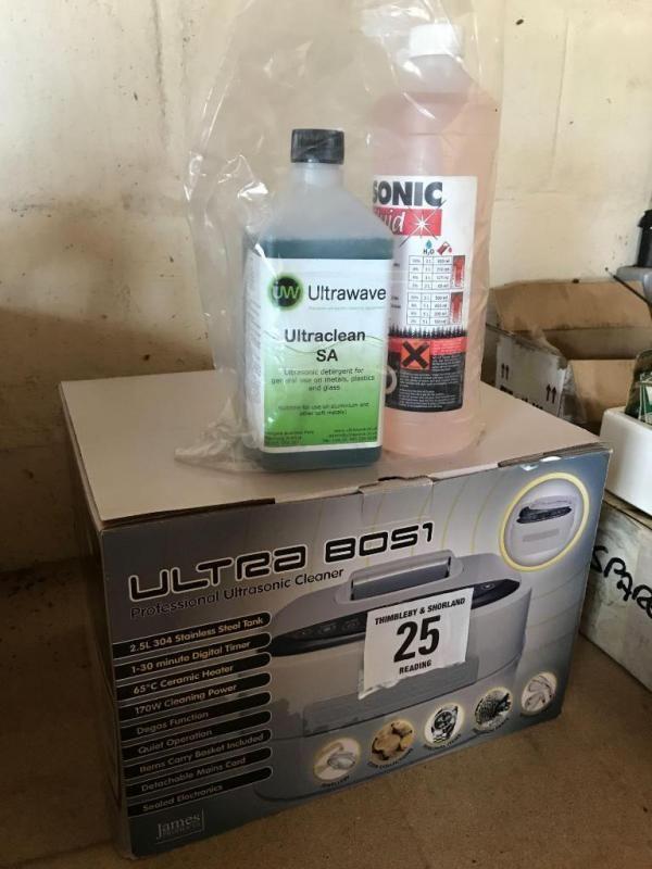 Ultra 8051 professioneller Ultraschallreiniger mit Reinigungsflüssigkeit