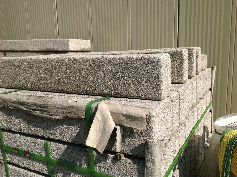86 Stück Palisade 12x8x100 hellgrauer Granit