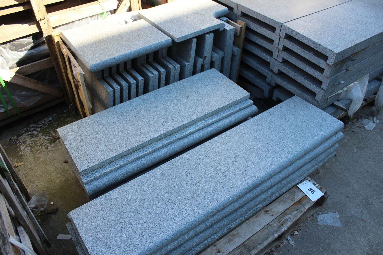 1 Set Schwimmbadrand Set dunkelgrauer Granit
