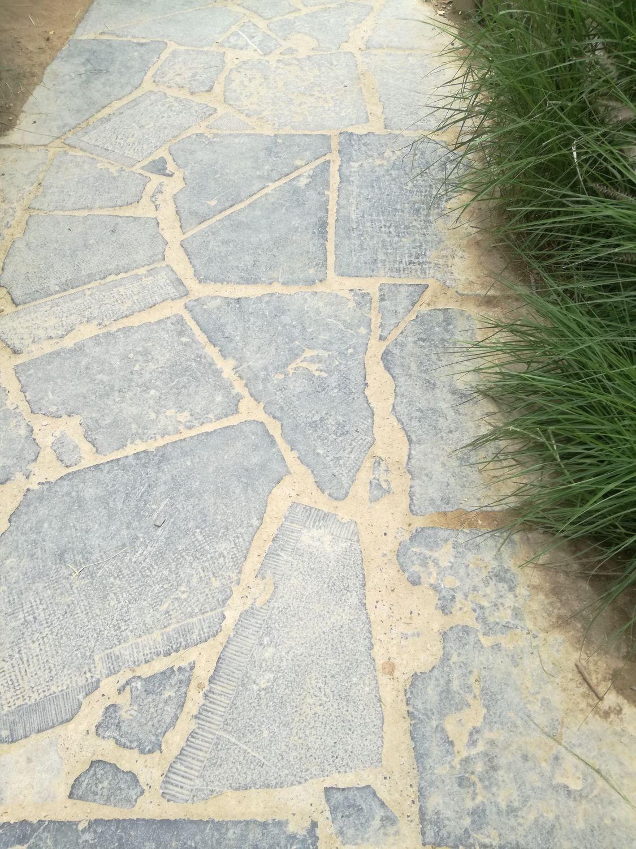 17 m² Steinplatte dunkelblauer Kalkstein Patio