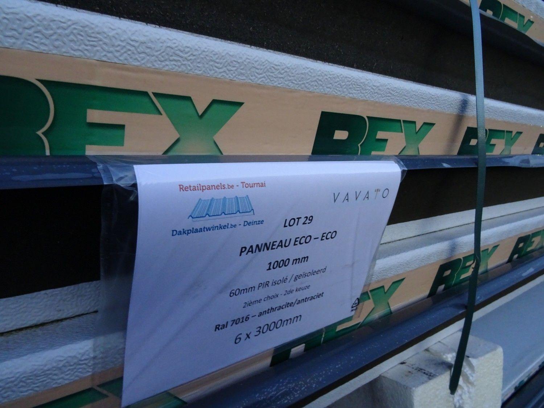 6 Stück Dachplatte ECO 60mm PIR isoliert