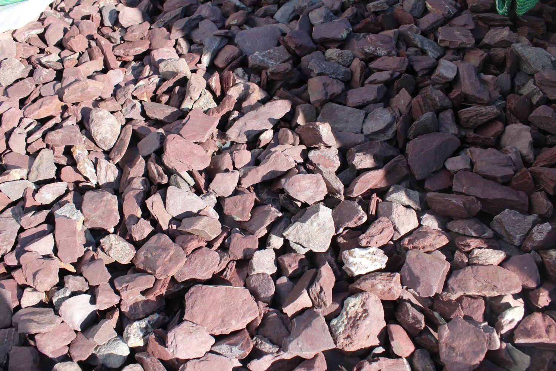 1,4 Tonnen Schieferscheiben lila-rot 30/60 - 1m³