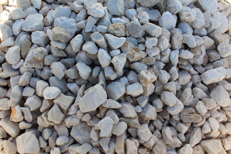 1,44 Tonnen weißer Steinbruch 30/60 - 1 m³