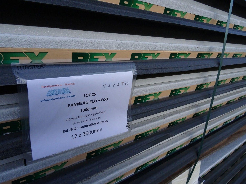 12 Stück Dachplatte ECO 40mm PIR isoliert