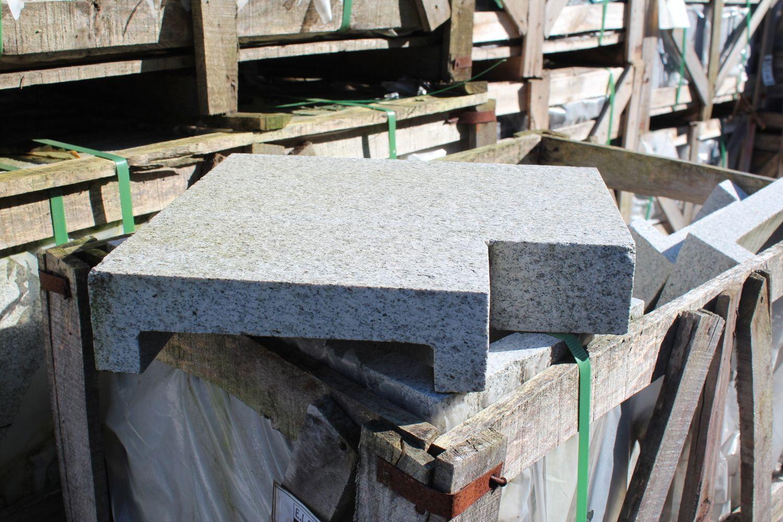 1 Zestaw Wandverkleidung oder (grauer) Teichrand hellgrauer Granit