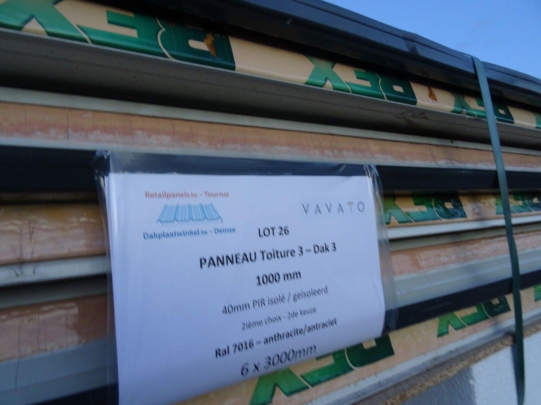 6 Stück Dachplatte DAK 3 40mm PIR isoliert