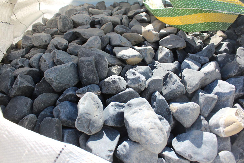 1,5 Tonnen Basaltblock 40/60 - in einem 500 kg (0,33 m³) großen Sack