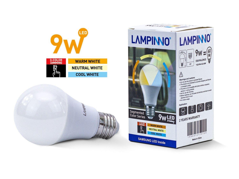 100 x 9 W E27 A60 SAMSUNG LED-Lampen 3 Farben