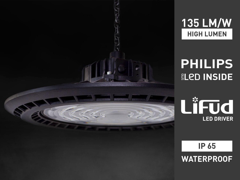 6 x 200W IP65 wasserdicht PHILIPS LED UFO Highbay Pro 6000K