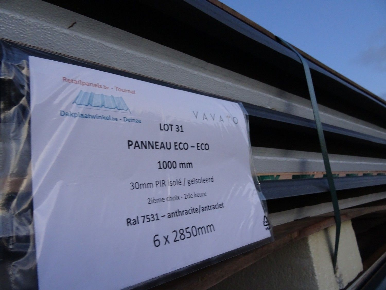 6 Stück Dachplatte ECO 30mm PIR isoliert
