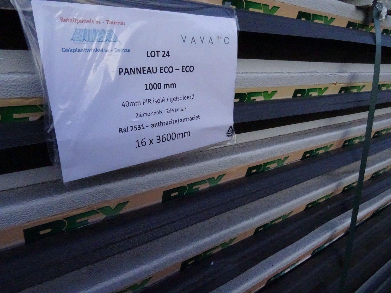 16 Stück Dachplatte ECO 40mm PIR isoliert