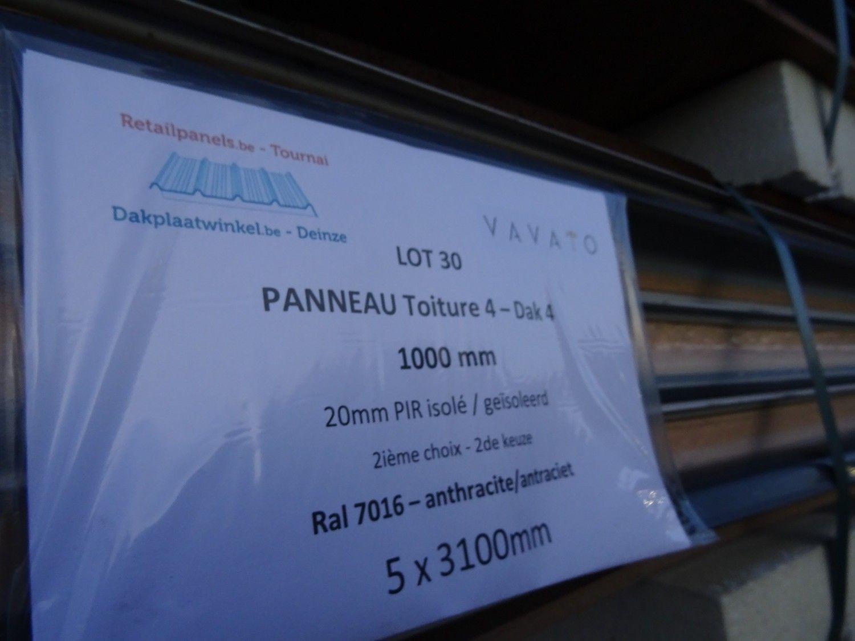 5 Stück Dachplatte DAK 20mm PIR isoliert