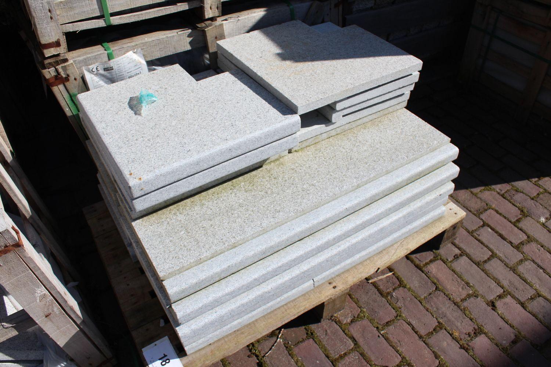 1 Set Schwimmbadrand Set hellgrauer Granit