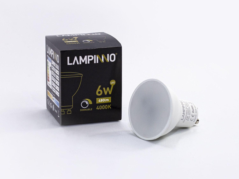 100 x 6W GU10 dimmbare LED Spots 4000K