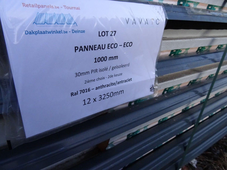 12 Stück Dachplatte ECO 30mm PIR isoliert