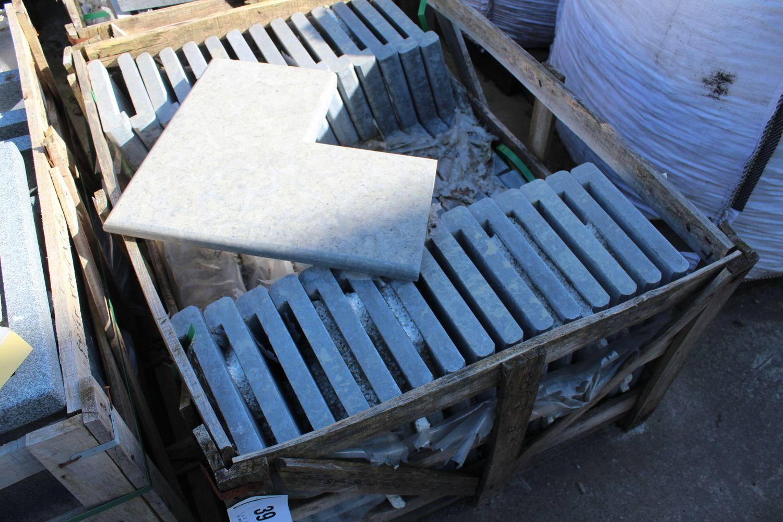30 Stück Schwimmbadkante aus blauem Kalkstein