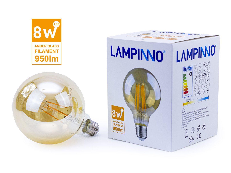 60 x 8 W E27 G125 LED-Filament 2700K