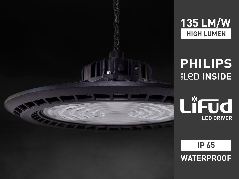 16 x 150W IP65 wasserdicht PHILIPS LED UFO Highbay Pro 6000