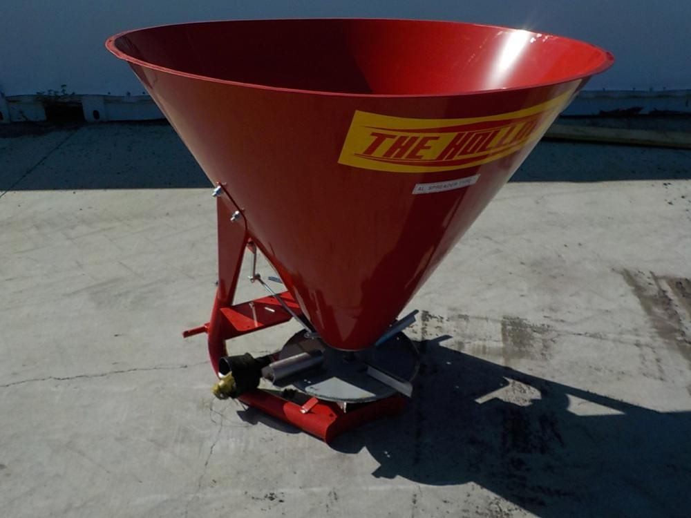 Unbenutztes hohles Modell # 500 3pt. Hitch Metal Spin Spreader, rot